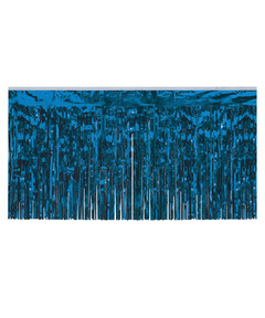 Metallic Table Fringe - Blue