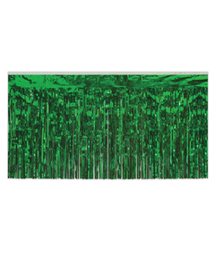 Metallic Table Fringe - Green