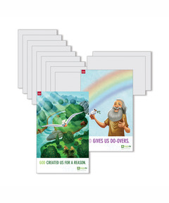 DIG IN, The Bible in One Year Preschool & Elementary Bible Point Posters: Quarter 1