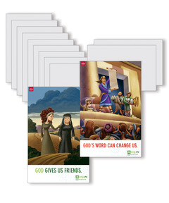 DIG IN, The Bible in One Year Preschool & Elementary Bible Point Posters: Quarter 2