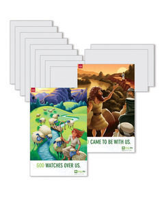 DIG IN, The Bible in One Year Preschool & Elementary Bible Point Posters: Quarter 3