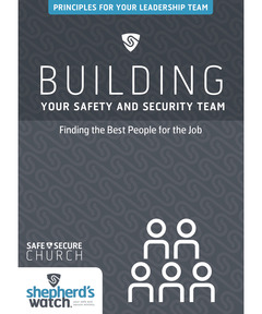 Building Your Safety and Security Team DVD: Finding the Best People for the Job