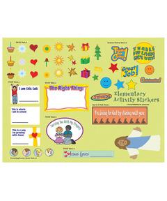 FaithWeaver Friends Elementary Activity Stickers - Spring