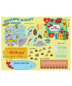 FaithWeaver Friends Preschool Activity Stickers - Spring
