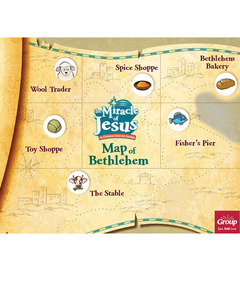 Miracle of Jesus Map of Bethlehem