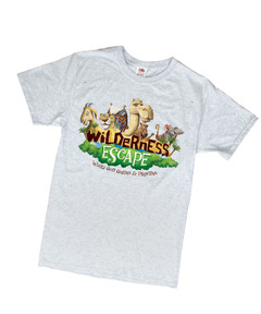 Wilderness Escape Theme T-Shirt Adult 2XL (50-52)