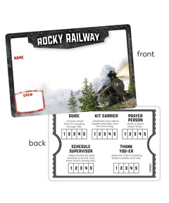 Rocky Railway Name Badges