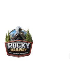 Rocky Railway Outdoor Banner - Logo