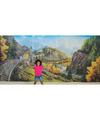 Rocky Railway Fabric Wall Hanging