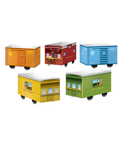 Paper Pop-Up Boxcars