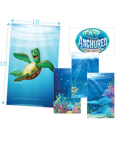 Anchored Giant Decorating Posters