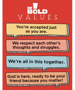 BE BOLD Values Poster - 22