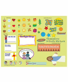 FaithWeaver Friends Elementary Activity Stickers - Winter