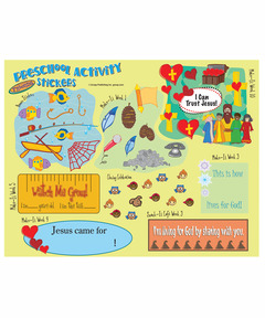 FaithWeaver Friends Preschool Activity Stickers - Spring 2021
