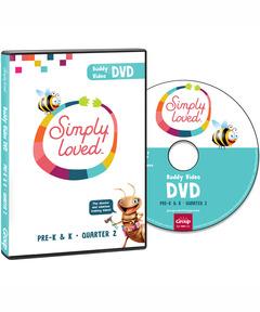 Simply Loved Pre-K&KBuddy Video DVD - Quarter 2