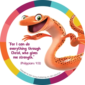 Simply Loved Bible Memory Buddy Stickers, Quarter 4— Sal the Spotted-Tail Salamander