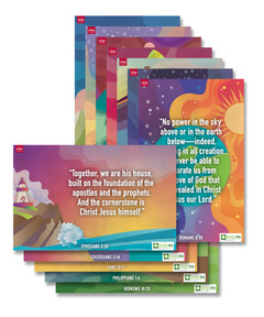 DIG IN, Foundations of Faith Bible Verse Poster Pack