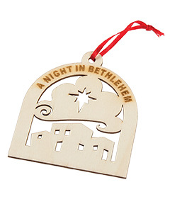 Night in Bethlehem Wood Ornament