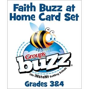 Grades 3&4 Faith Buzz at Home Card Pack - Spring 2021