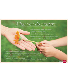 What You Do Matters downloadable poster