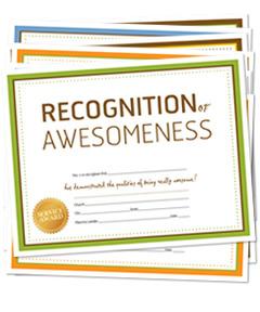 Appreciation Certificates (download)