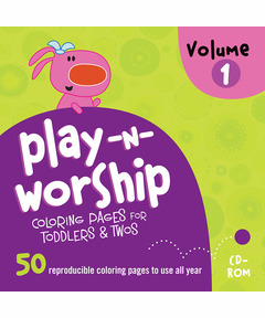 Play-n-Worship For Toddlers & Twos Coloring Pages CD Vol. 1
