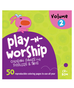 Play-n-Worship Coloring Pages For Toddlers & Twos CD Volume 2