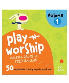 Play-n-Worship Coloring Pages for Preschoolers CD Volume 1