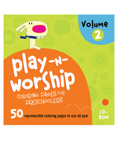 Play-n-Worship Coloring Pages for Preschoolers CD Volume 2