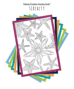 Coloring Creations Greeting Cards: Serenity