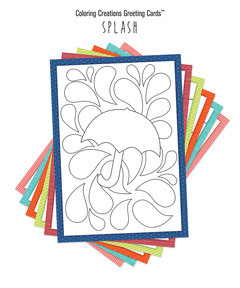 Coloring Creations Greeting Cards: Splash