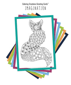 Coloring Creations Greeting Cards: Imagination