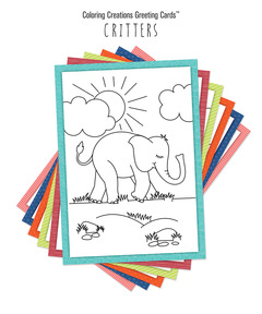Coloring Creations Greeting Cards: Critters