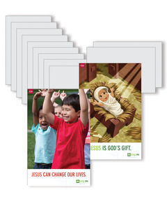 DIG IN, Life of Jesus Preschool Bible Point Posters: Quarter 1