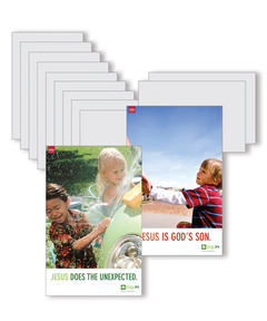 DIG IN, Life of Jesus Preschool Bible Point Posters: Quarter 3