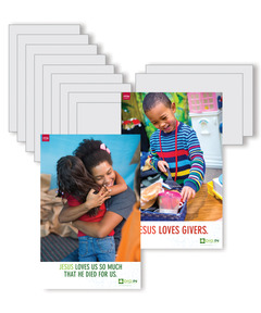 DIG IN, Life of Jesus Preschool Bible Point Posters: Quarter 4