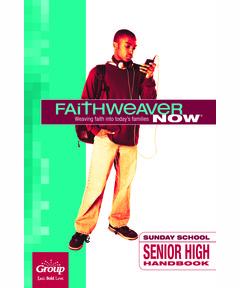 FaithWeaver NOW Senior High Handbook - Fall 2020