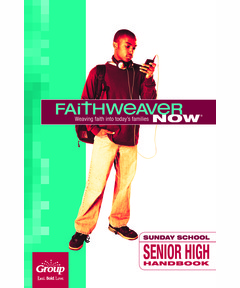 FaithWeaver NOW Senior High Handbook - Winter 2020-21