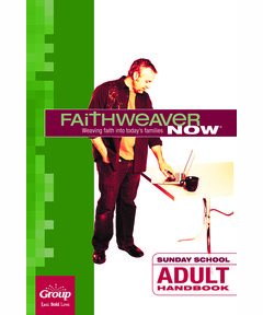FaithWeaver NOW Adult Handbook - Winter 2020-21
