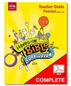 Hands-On Bible Curriculum Preschool Teacher Guide Download, Winter 2020-21