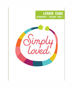 Simply Loved Elementary Leader Guide - Holiday Year 1