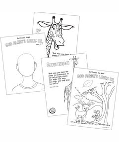 Simply Loved Pre-K & K Coloring Creation Pages - Quarter 1