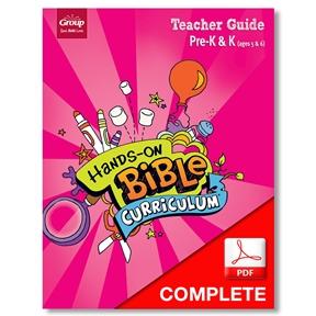Hands-On Bible Curriculum Pre-K&K (Ages 5 & 6) Teacher Guide Download, Summer 2021