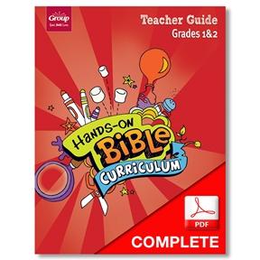 Hands-On Bible Curriculum Grades 1&2 Teacher Guide Download, Summer 2021