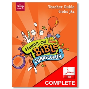 Hands-On Bible Curriculum Grades 3&4 Teacher Guide Download, Summer 2021