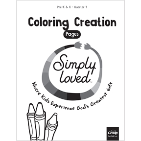 Simply Loved Pre-K & K Coloring Creation Pages—Quarter 4
