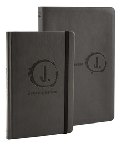 Jesus-Centered Bible and Journal (Charcoal) Bundle